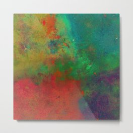 Lose Yourself In Colour (Abstract, textured painting) Metal Print