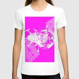 Explorer White on Pink T-shirt