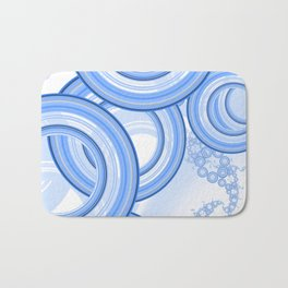 World of White-Blue Suds n Bubbles at the Car Wash Bath Mat