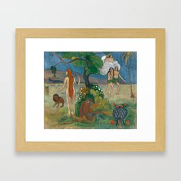 Paradise Lost by Paul Gauguin Framed Art Print