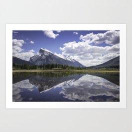 Rundle Mountain Art Print