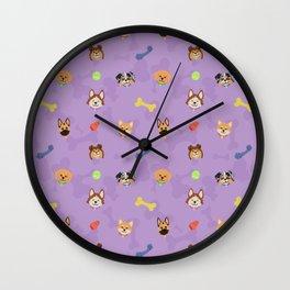 Dog Toy Pattern Wall Clock