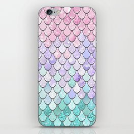 Mermaid Pastel Pink Purple Aqua Teal iPhone Skin