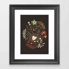 Cute Hedgehogs Framed Art Print