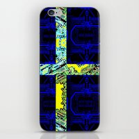 sweden iPhone & iPod Skins featuring circuit board Sweden (Flag) by seb mcnulty