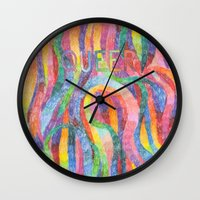 queer Wall Clocks featuring queer rainbows by ElenaM