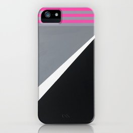 London - pink graphic iPhone Case
