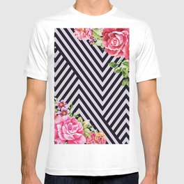 flowers geometric T-shirt
