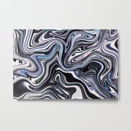 Modern Line Wave in Abstract Style Metal Print