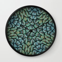 Classic Peacock Feather Kaleidoscope  Wall Clock