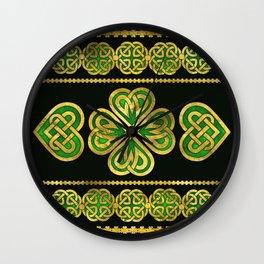 Four-leaf Lucky Clover Shamrock Ornament Wall Clock