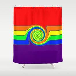 Rainbow With A Headache Shower Curtain