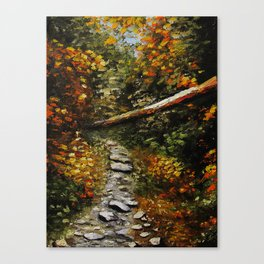 Into the Forest, Landscape Painting-Oil on Canvas-Original Art-Impressionism-Impasto-Realistic Canvas Print