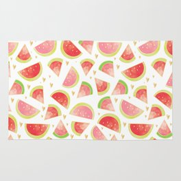 Pink & Gold Watermelon Slices Rug