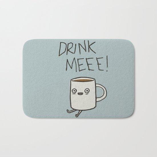 Drink Me Coffee Bath Mat