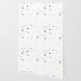 Dandelion Seeds Genderqueer Pride (white background) Wallpaper