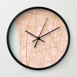 Beirut map Wall Clock