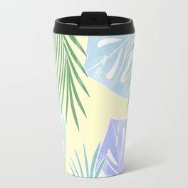 Tropical leaves pastel colors. Travel Mug