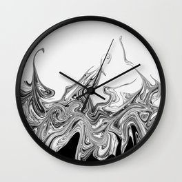 Modern contemporary Black and White Abstract Wall Clock