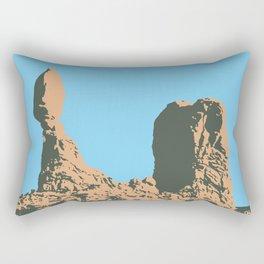 Balanced rock in Arches National Park- Utah, USA Rectangular Pillow