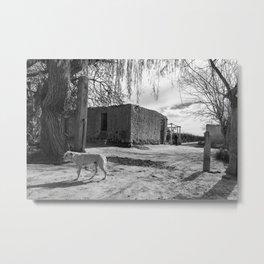 Adobe house at Pocito, San Juan, Argentina Metal Print