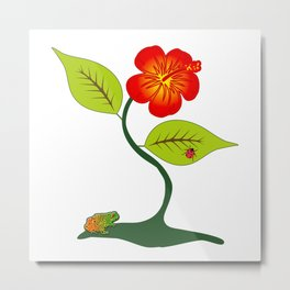 Plant and flower Metal Print