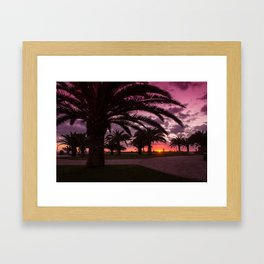 Meloneras sunset walk Framed Art Print
