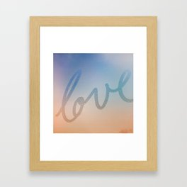 Love orange & purple Framed Art Print