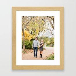 Fall walk in the park Framed Art Print