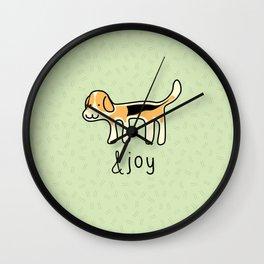 Cute Beagle Dog &joy Doodle Wall Clock