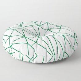 Geometric Cobweb (Olive & White Pattern) Floor Pillow
