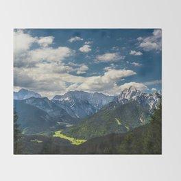 Stunning Julian alps Throw Blanket