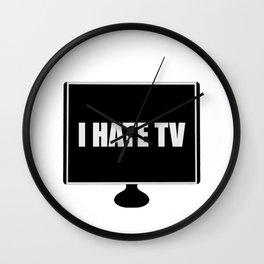 I HATE TV Wall Clock