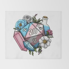 Pride Transgender D20 Tabletop RPG Gaming Dice Throw Blanket