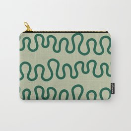 Coral Green Carry-All Pouch