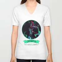 league of legends V-neck T-shirts featuring League Of Legends - Cassiopeia by TheDrawingDuo