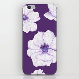 Anemones 2 Purple #society6 #buyart iPhone Skin