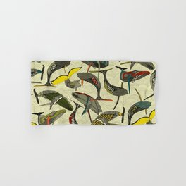 whales and waves bold Hand & Bath Towel