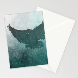 Owl Silhouette | Swooping Owl Ghost | Space Owl Stationery Cards