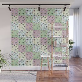 Pajama'd Baby Goats - Small Patchwork Wall Mural