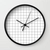 grid Wall Clocks featuring grid by 550am