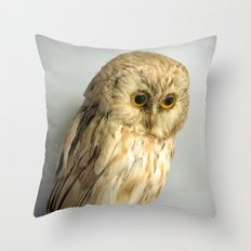 Wise Owl Throw Pillow