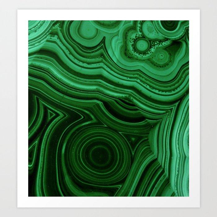 GREEN MALACHITE STONE PATTERN Kunstdrucke