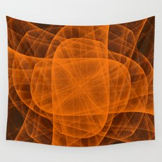 Eternal Rounded Cross in Orange Brown Wall Tapestry