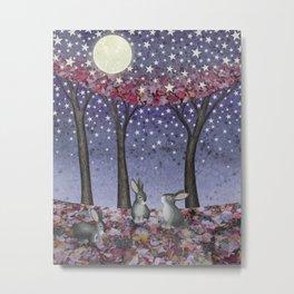 starlit bunnies Metal Print