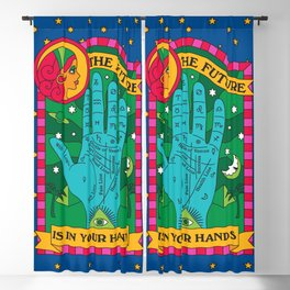 The Future is In Your Hands Blackout Curtain