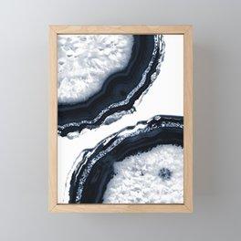 Agate Glitter Glam #10 #gem #decor #art #society6 Framed Mini Art Print