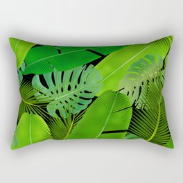 Mix Tropical Leafs mashup pattern Rectangular Pillow