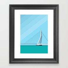 Erasmusbrug / Rotterdam Framed Art Print