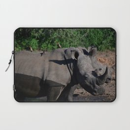 Breakfast on a rhino Laptop Sleeve